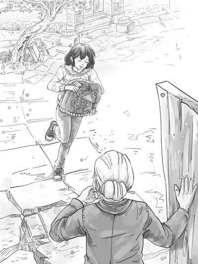小清新插图手绘小船