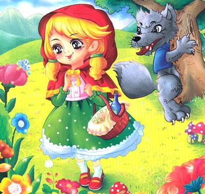 宝宝最喜爱的认读童话---小红帽图片