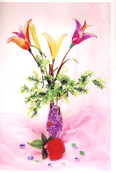 布艺绣球花的制作步骤