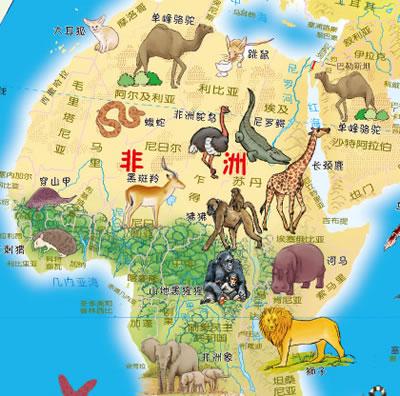 儿童手绘家乡地图