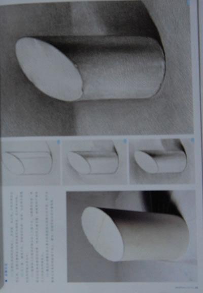 球体  3.长方体  4.切面圆柱体 02 多角度表现  1.圆柱体  2.