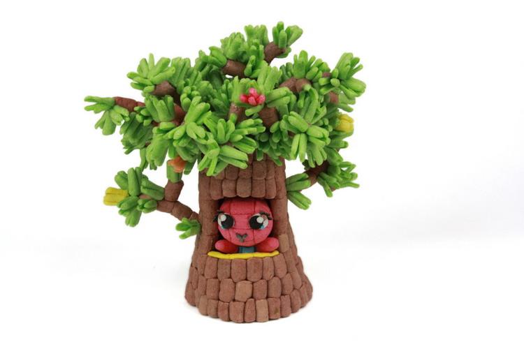 塑料手工盆栽模型