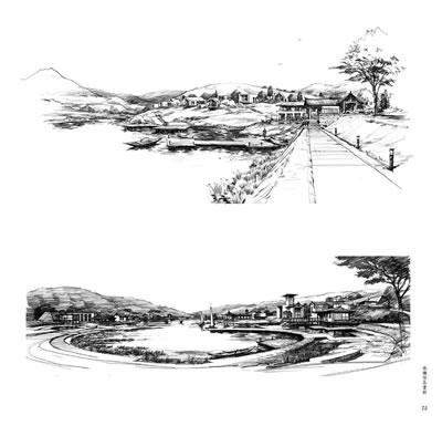 景观 建筑手绘表现应用手册-线稿训练(中青雄狮) 王海强 ,来拓手绘 97