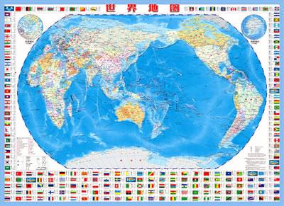 世界地图的正面(《世界地图》面)详细介绍了世界七大洲,四大洋