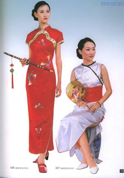 唐装,旗袍款式与制作