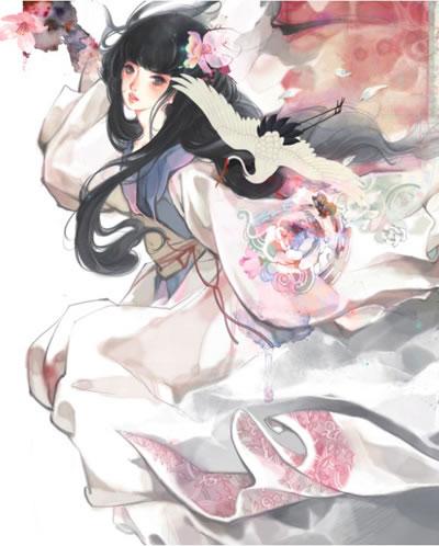 古风手绘梅花头像图片
