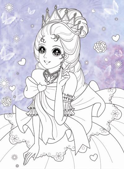 玫瑰花简笔画 公主