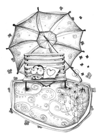 服装设计图手绘带钻石